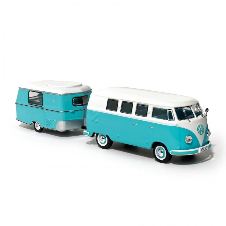 Kombi Volkswagen et sa caravane Eriba