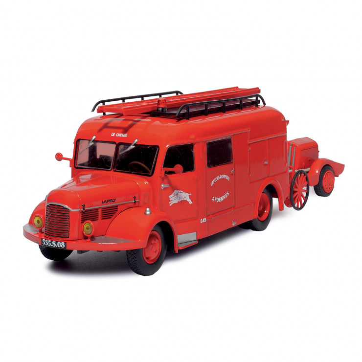 FIN Laffly BSS163 + moto-pompe remorquable Guinard-Incendie